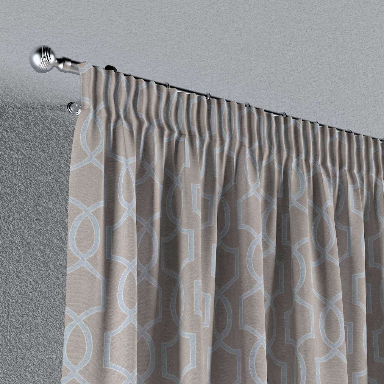 Pencil pleat curtains 130 x 260 cm (51 x 102 inch) in collection Comic Book & Geo Prints, fabric: 141-26