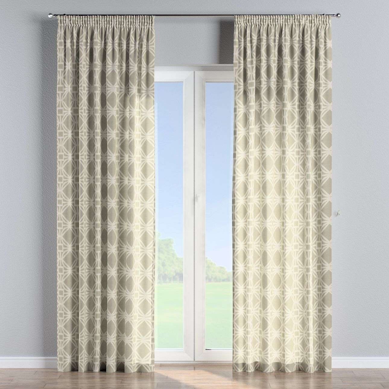 Pencil pleat curtains 130 × 260 cm (51 × 102 inch) in collection Comics/Geometrical, fabric: 141-56