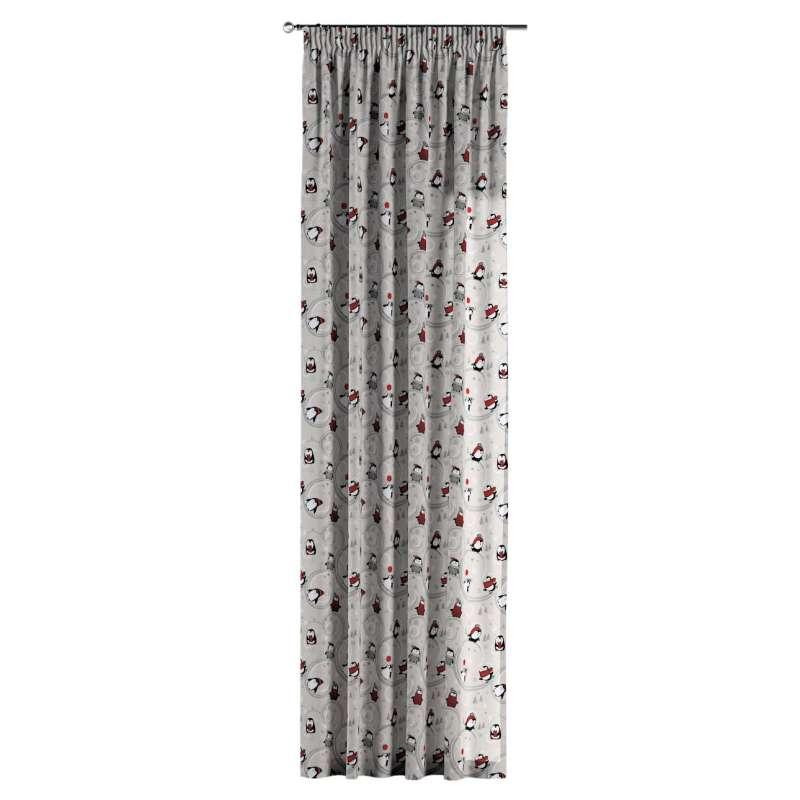 Pencil pleat curtains in collection Christmas, fabric: 629-33