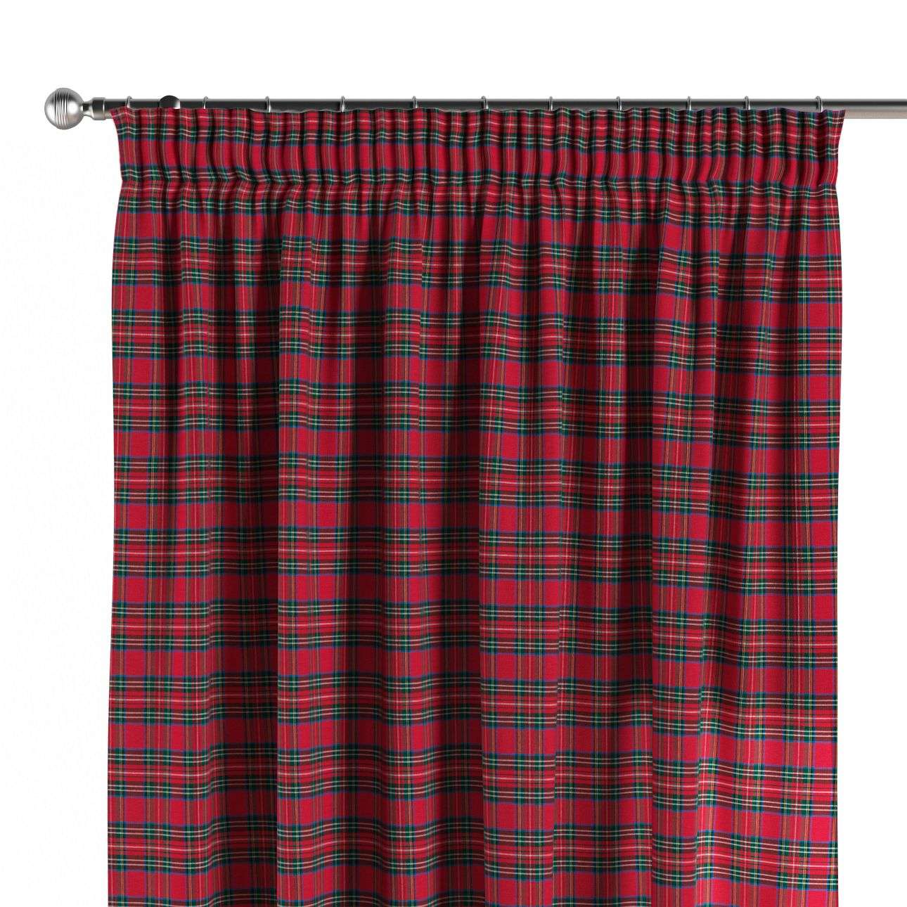 Pencil pleat curtains 130 x 260 cm (51 x 102 inch) in collection Christmas, fabric: 126-29