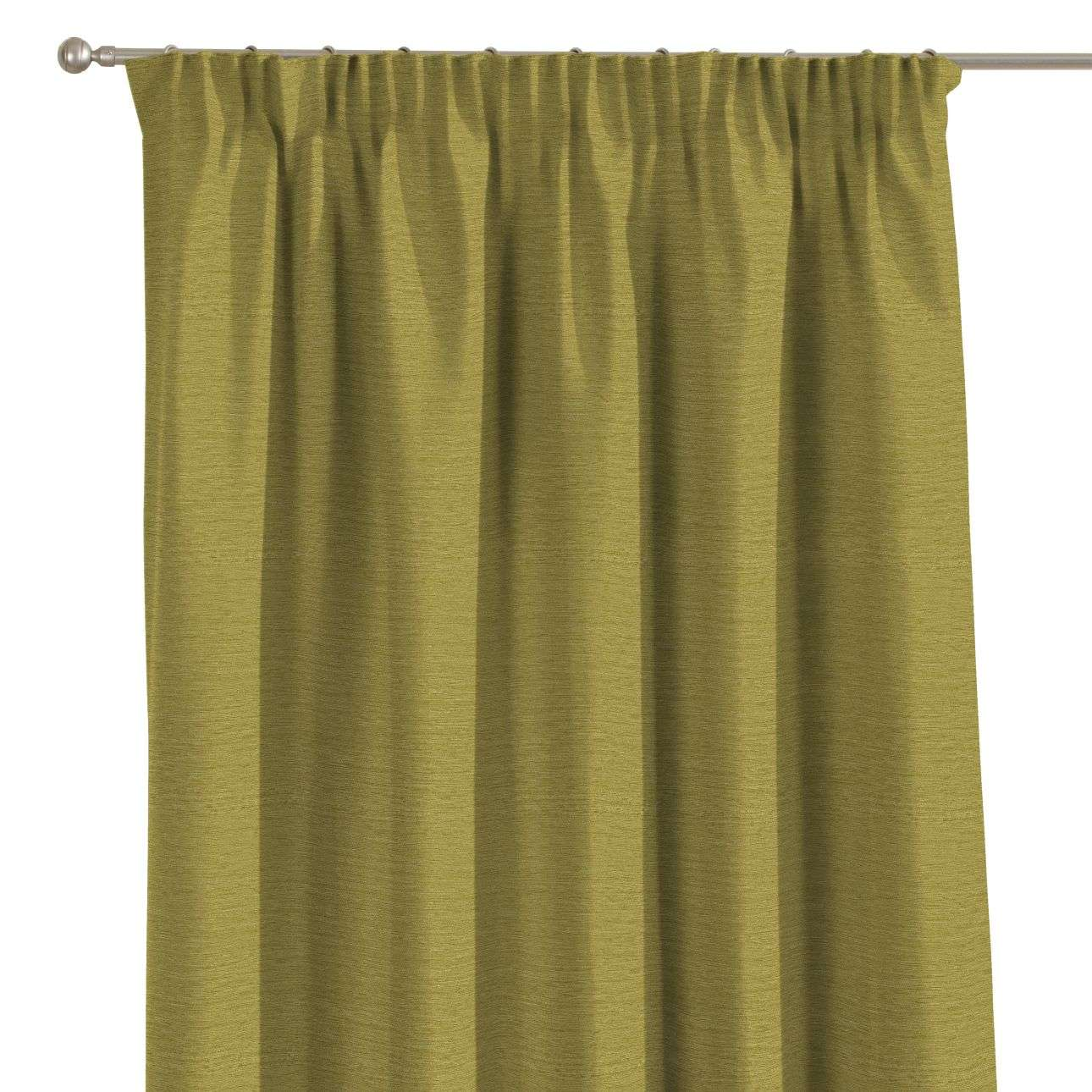 Pencil pleat curtains in collection Chenille, fabric: 160-47