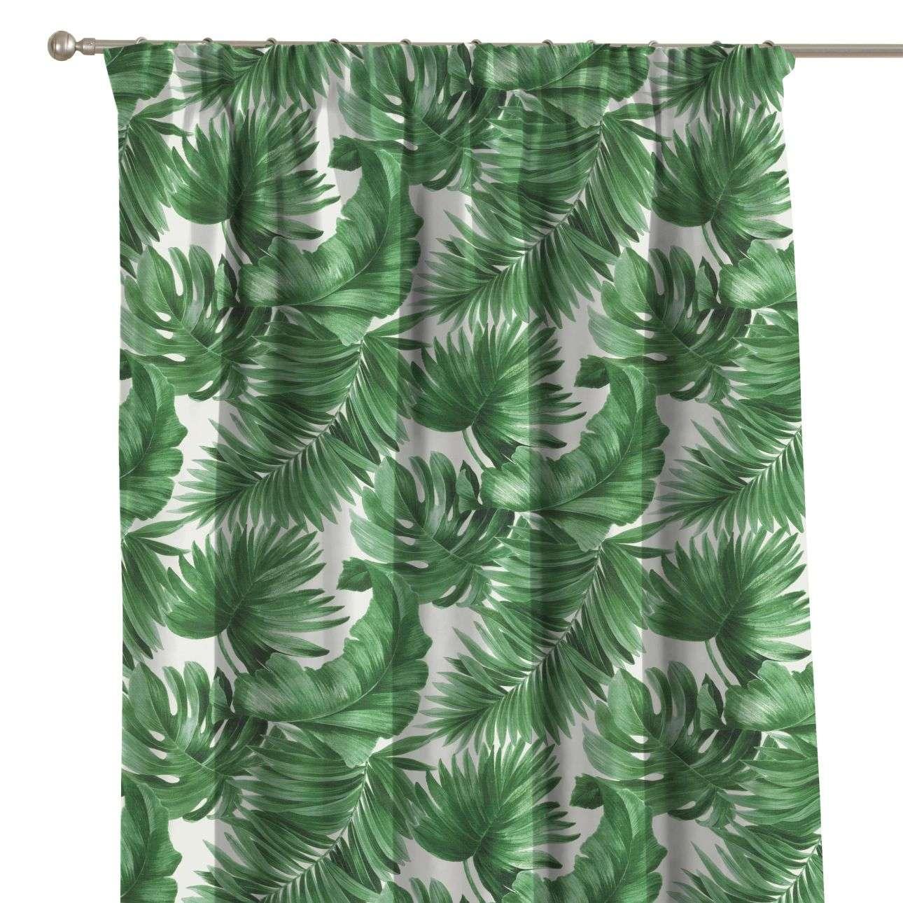 Függöny ráncolóval a kollekcióból Tropical Island, Dekoranyag: 141-71