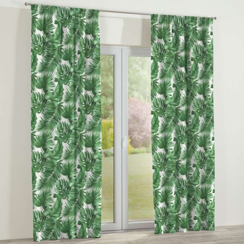 Pencil pleat curtain in collection Tropical Island, fabric: 141-71