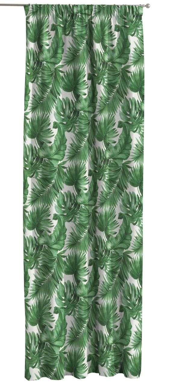 Záves na riasiacej páske V kolekcii Urban Jungle, tkanina: 141-71
