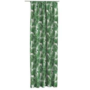 Gardin med rynkband 1 längd 130 × 260 cm i kollektionen Urban Jungle, Tyg: 141-71