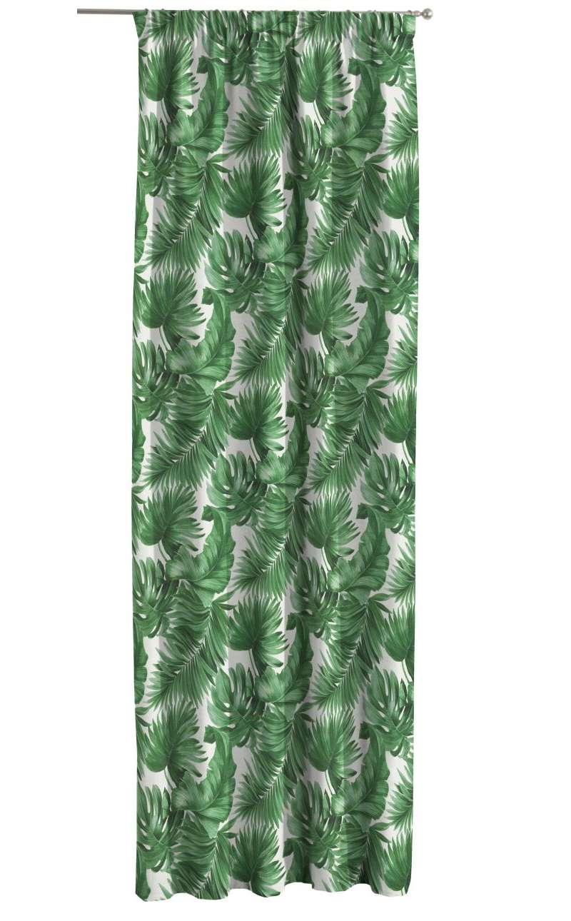 Záves na riasiacej páske V kolekcii Tropical Island, tkanina: 141-71
