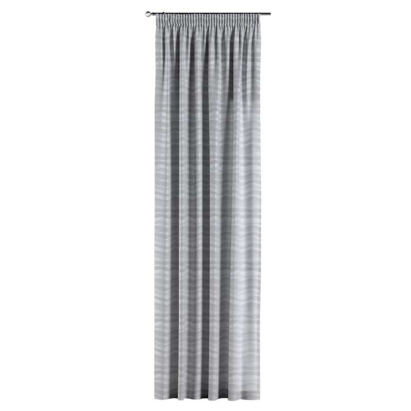 Pencil pleat curtain in collection Damasco, fabric: 141-72