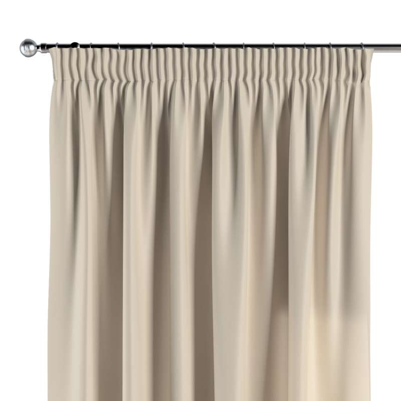 Pencil pleat curtain in collection Damasco, fabric: 141-73