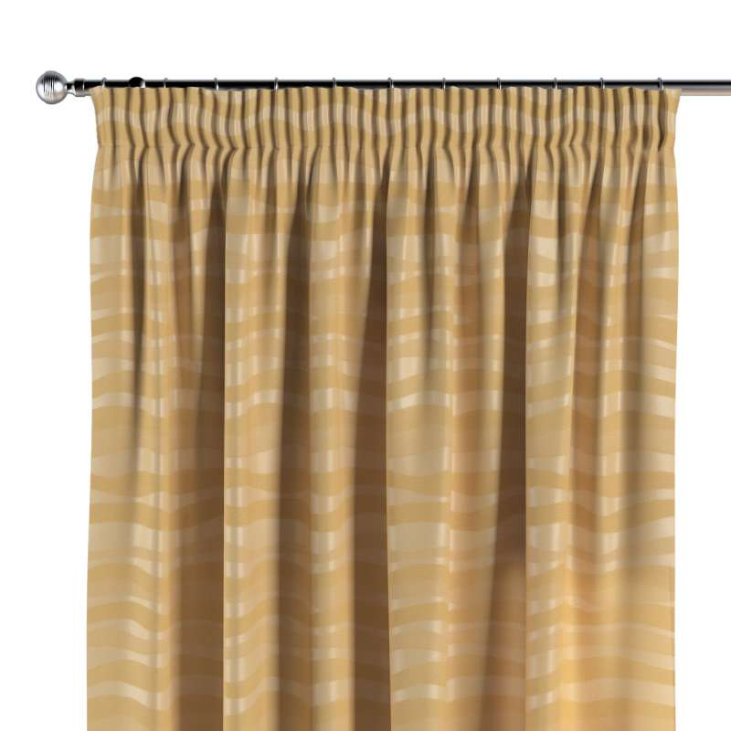 Vorhang mit Kräuselband von der Kollektion Damasco, Stoff: 141-74