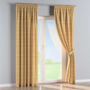 Pencil pleat curtains in collection Damasco, fabric: 141-74