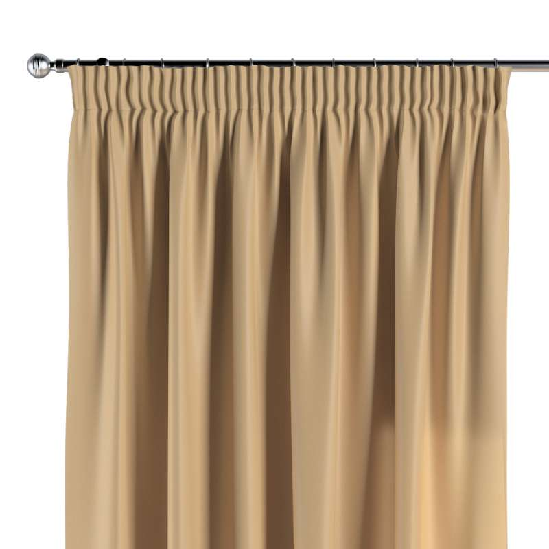 Pencil pleat curtain in collection Damasco, fabric: 141-75