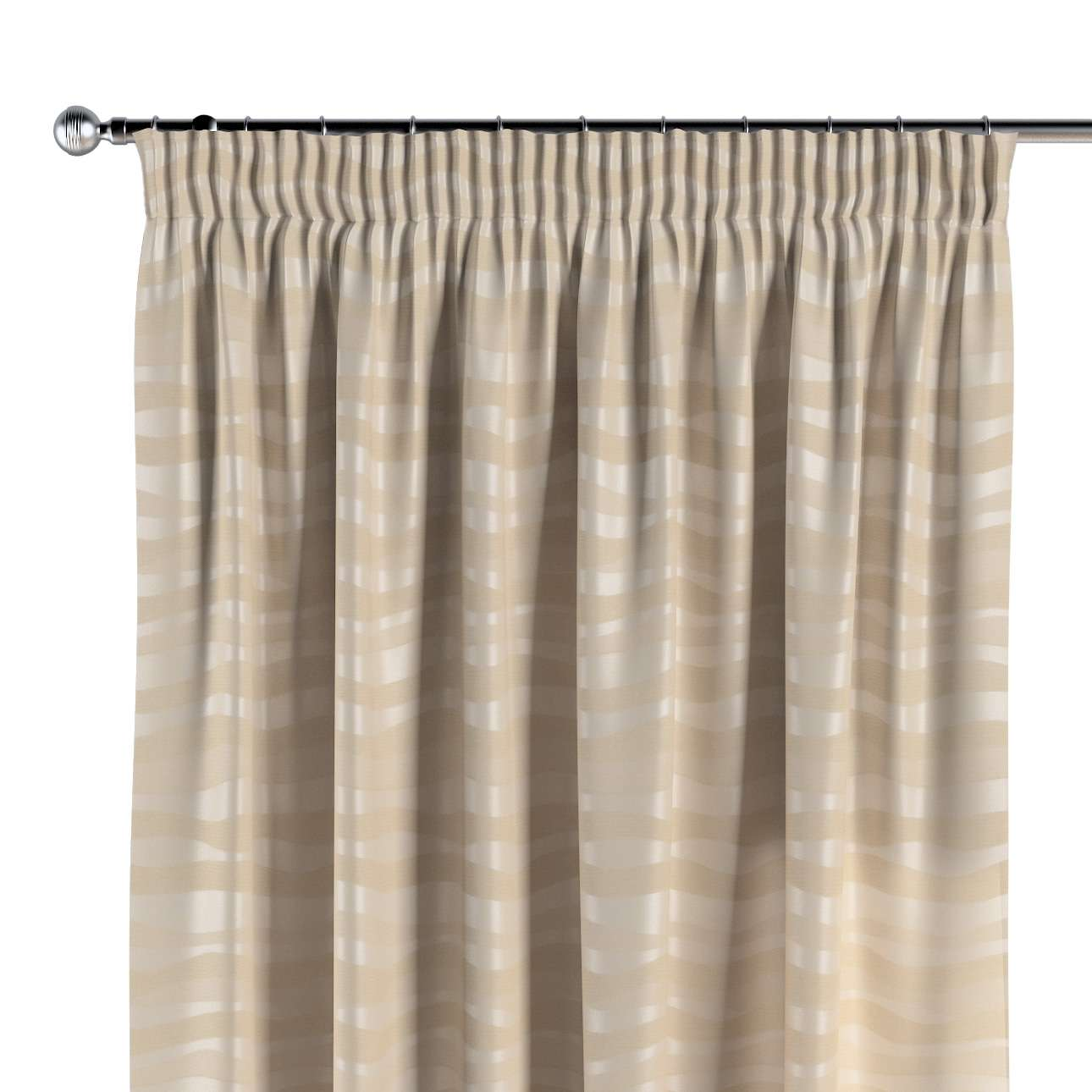 Pencil pleat curtains in collection Damasco, fabric: 141-76
