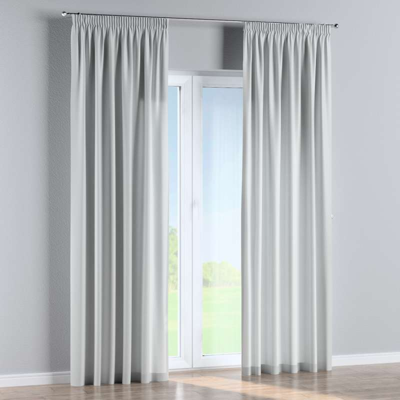Pencil pleat curtain in collection Damasco, fabric: 141-77