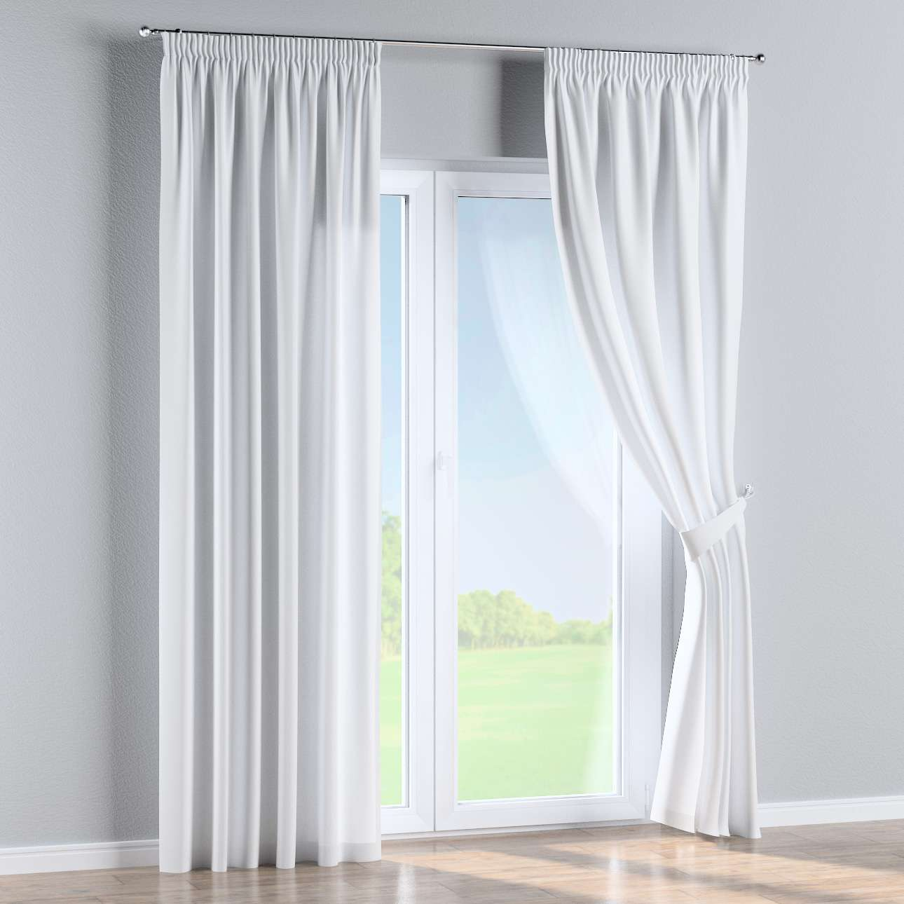 Pencil pleat curtains in collection Damasco, fabric: 141-78