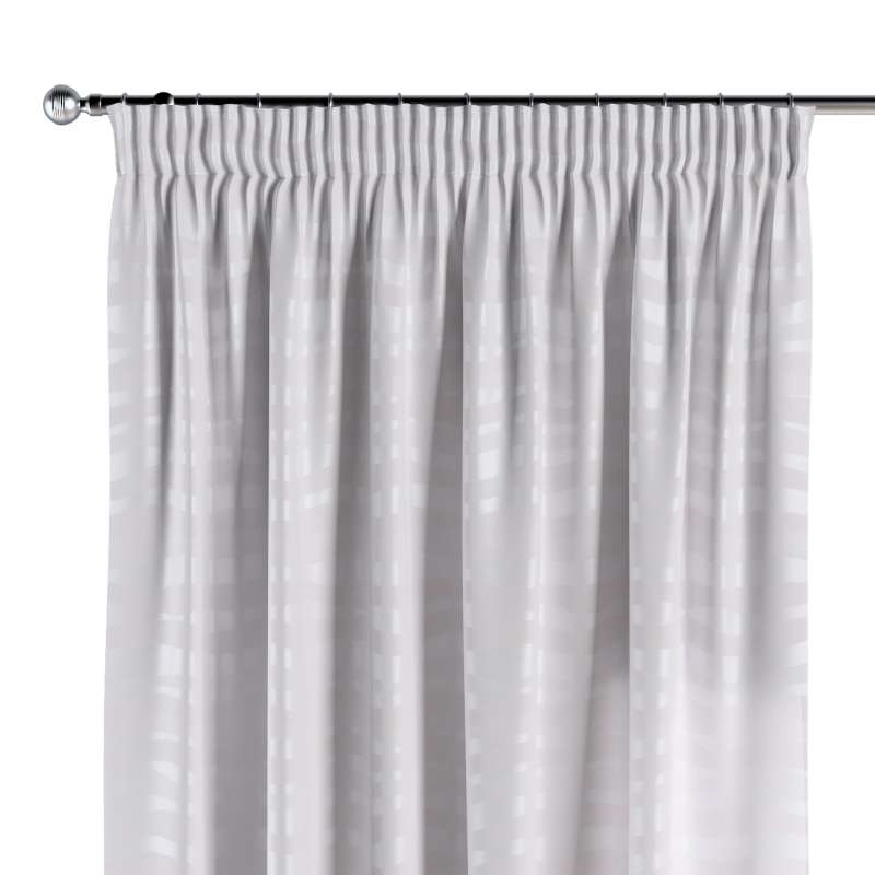 Pencil pleat curtain in collection Damasco, fabric: 141-87