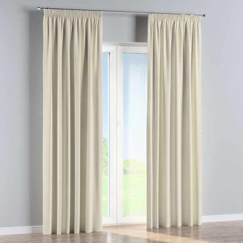 Pencil pleat curtain in collection Velvet, fabric: 704-10