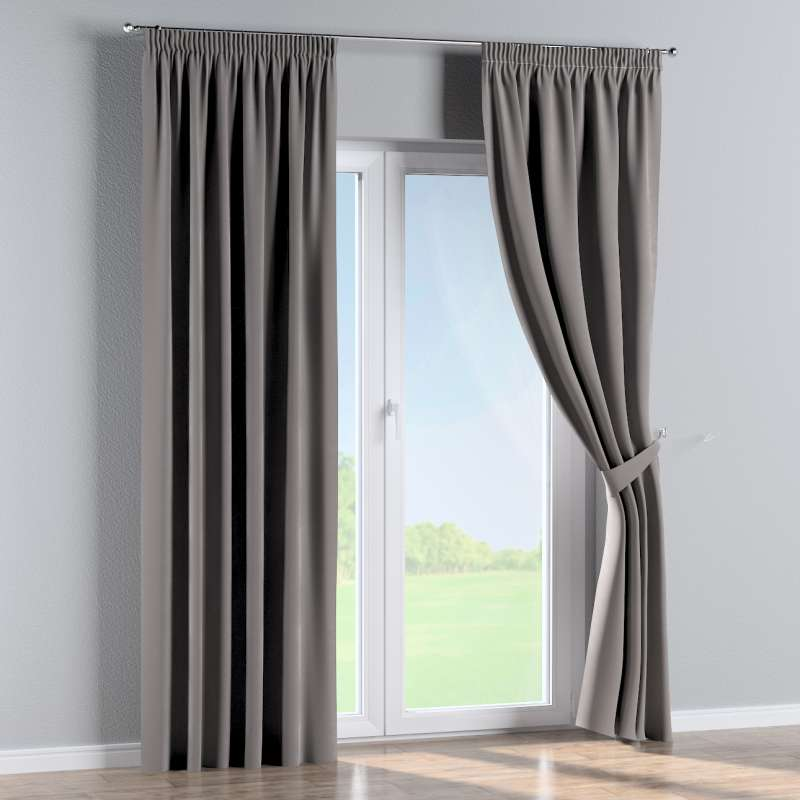 Pencil pleat curtain in collection Velvet, fabric: 704-11