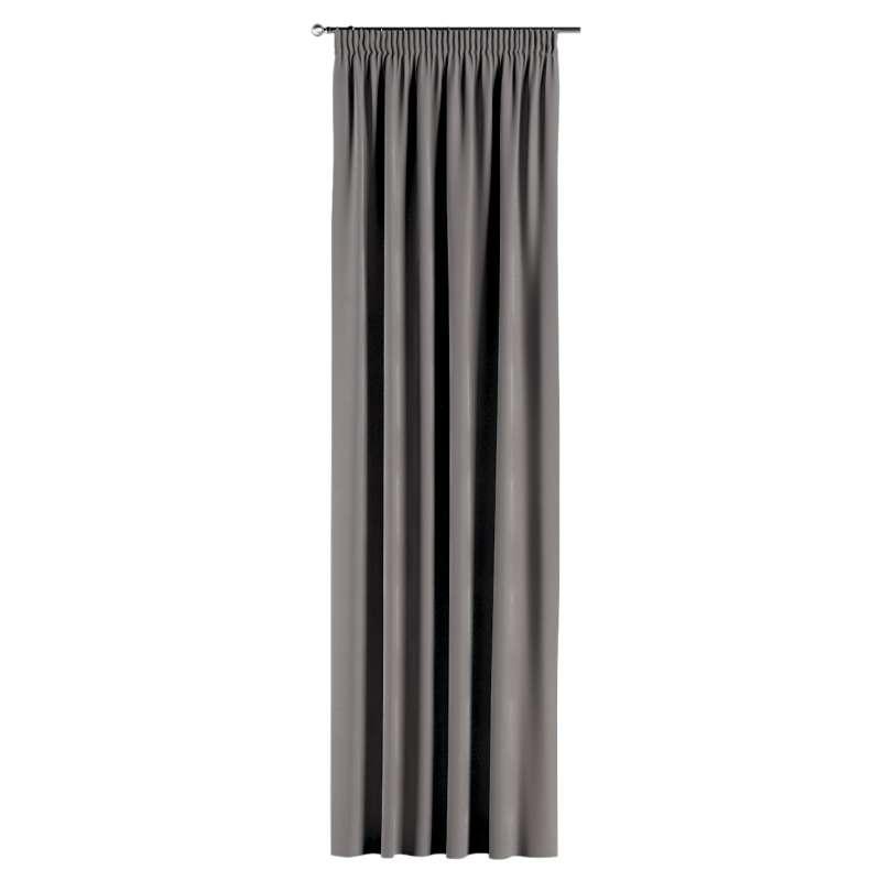Gardin med rynkband 1 längd i kollektionen Velvet, Tyg: 704-11