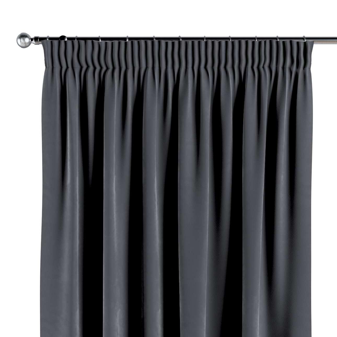 Pieštukinio klostavimo užuolaidos 130 × 260 cm (plotis × ilgis) kolekcijoje Velvet/Aksomas, audinys: 704-12