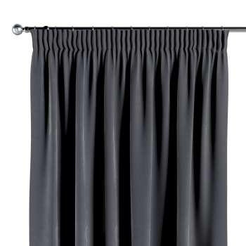 Pieštukinio klostavimo užuolaidos 130 x 260 cm (plotis x ilgis) kolekcijoje Velvet, audinys: 704-12