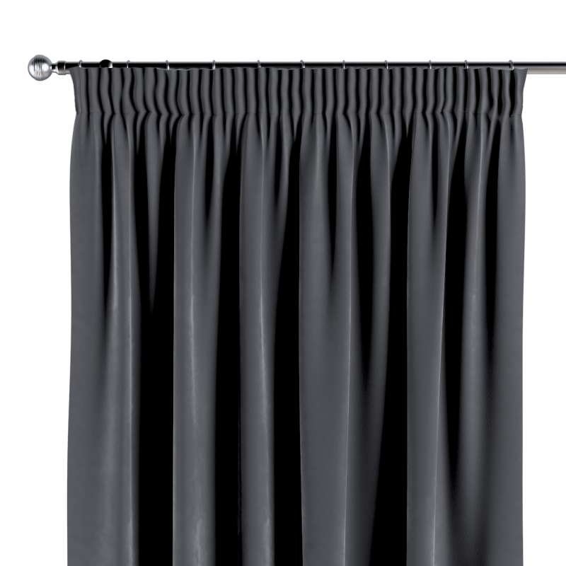 Pencil pleat curtain in collection Velvet, fabric: 704-12