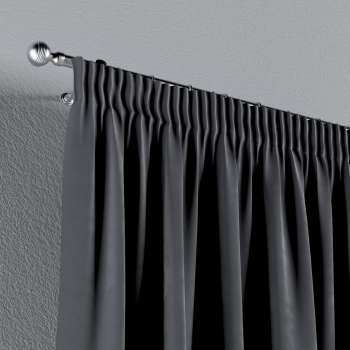 Pencil pleat curtains in collection Velvet, fabric: 704-12
