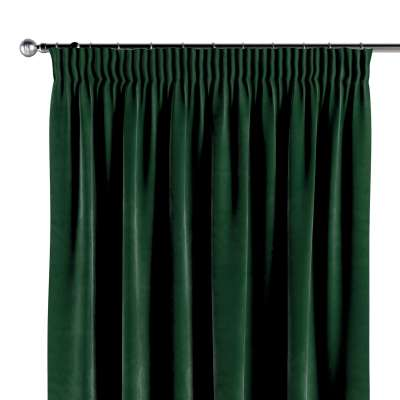 Pencil pleat curtains in collection Velvet, fabric: 704-13