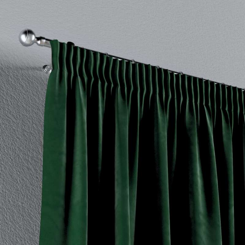 Pencil pleat curtain in collection Velvet, fabric: 704-13
