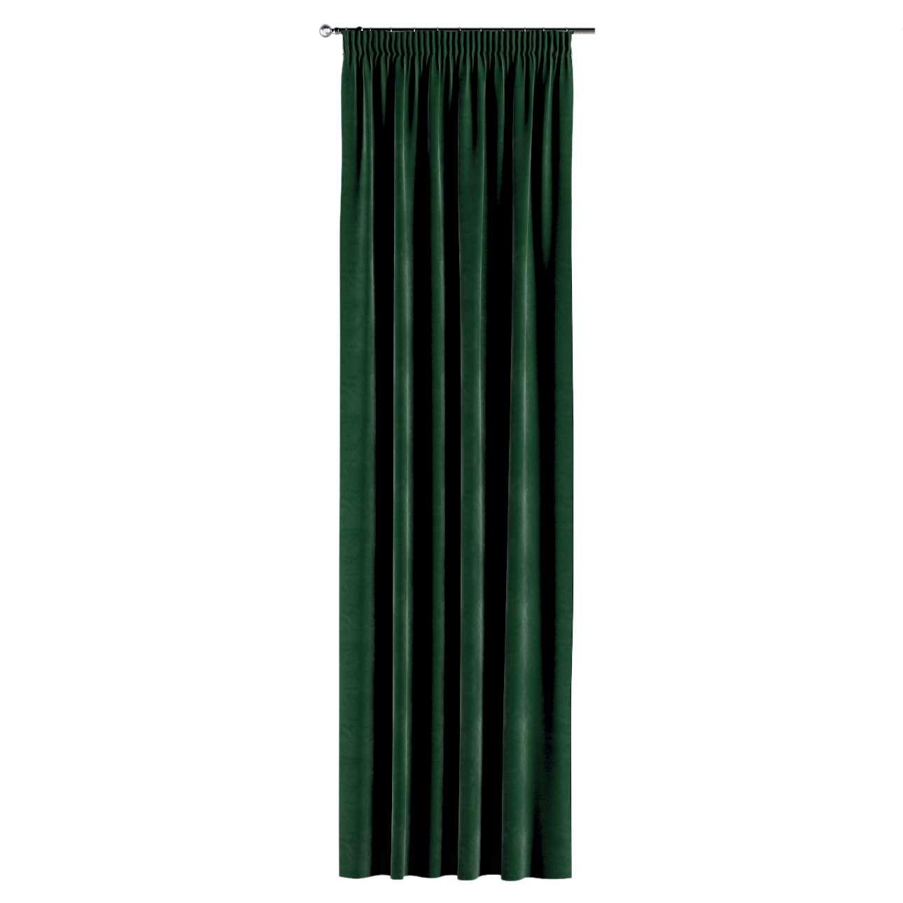 Gardin med rynkebånd 1 stk. 130 × 260 cm fra kolleksjonen Velvet, Stoffets bredde: 704-13