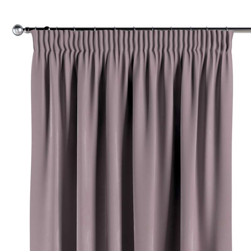 Pencil pleat curtain in collection Velvet, fabric: 704-14