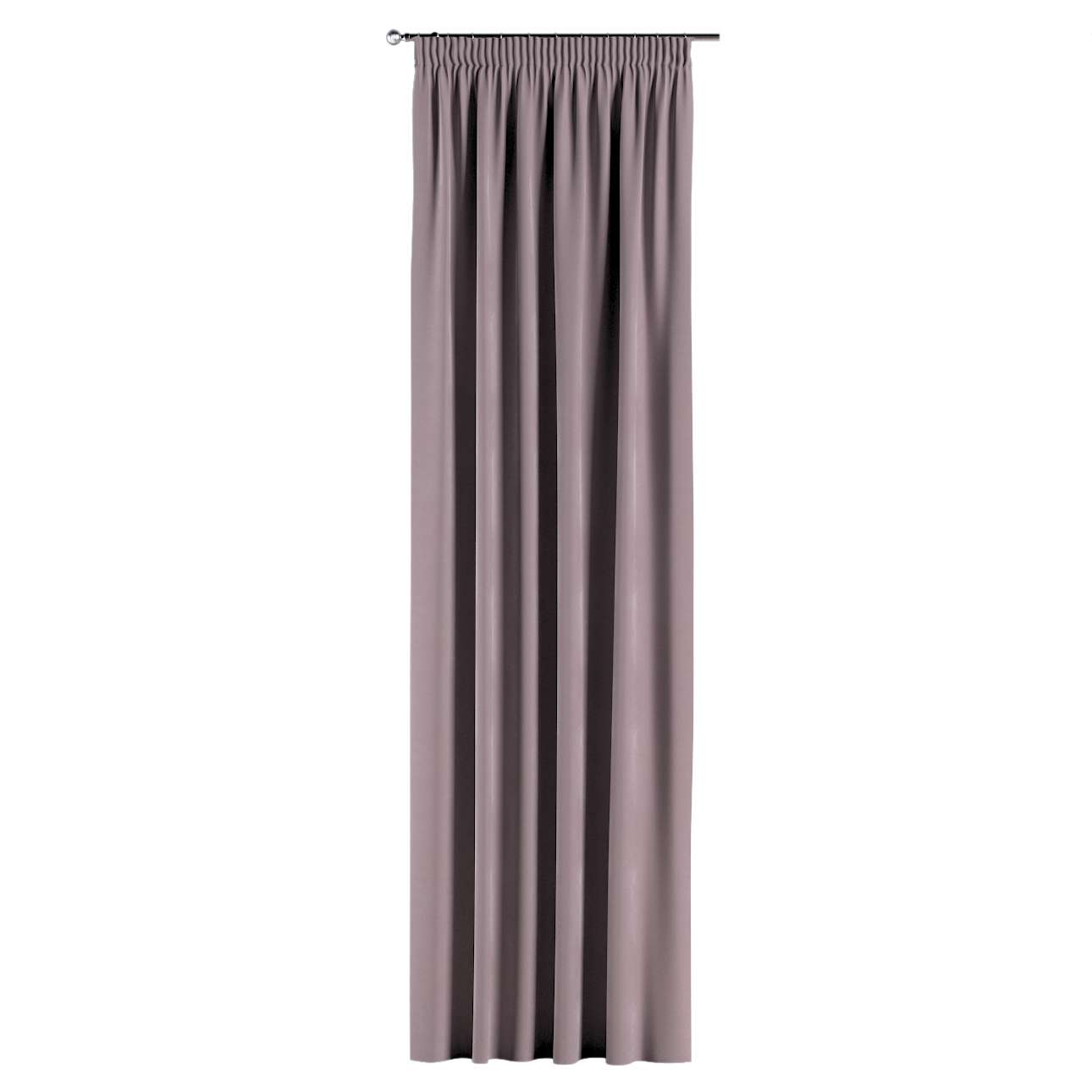 Pencil pleat curtains in collection Velvet, fabric: 704-14