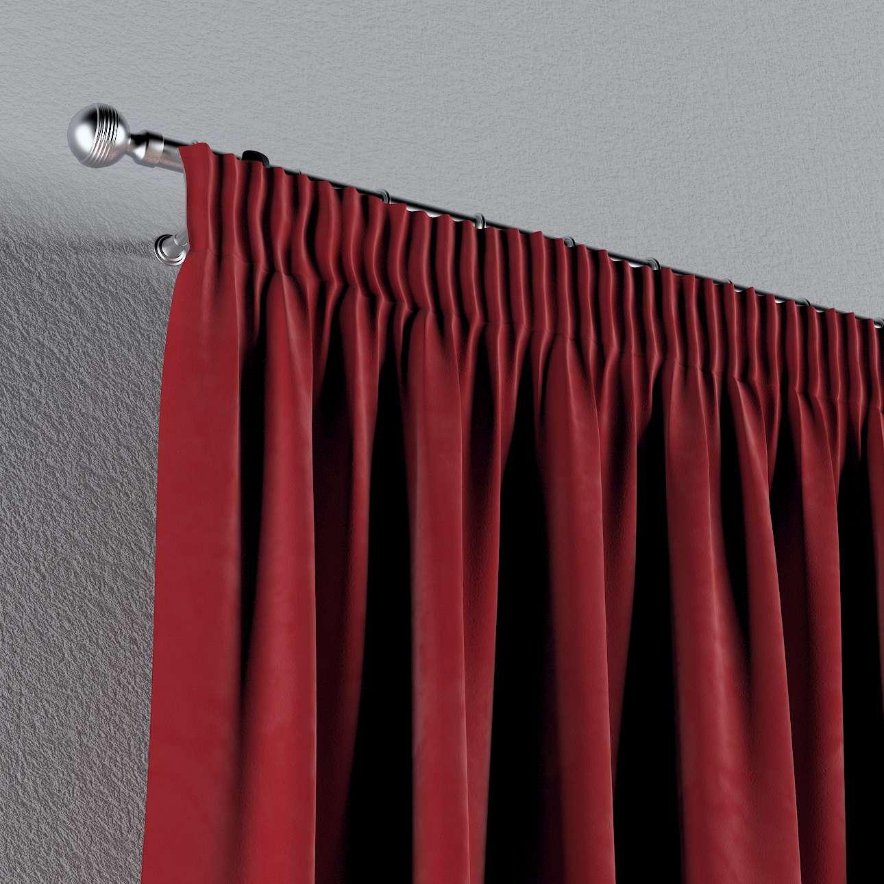 Vorhang mit Kräuselband von der Kollektion Velvet, Stoff: 704-15