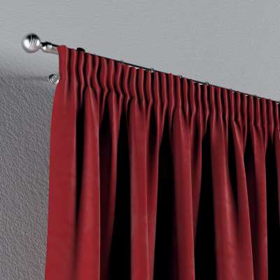 Pencil pleat curtains in collection Velvet, fabric: 704-15