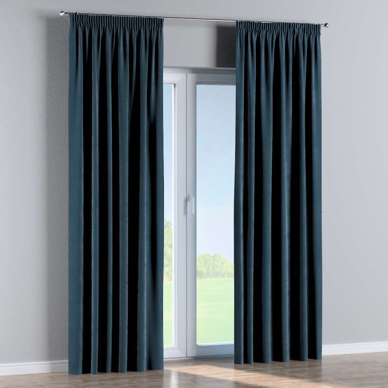 Pencil pleat curtain in collection Velvet, fabric: 704-16