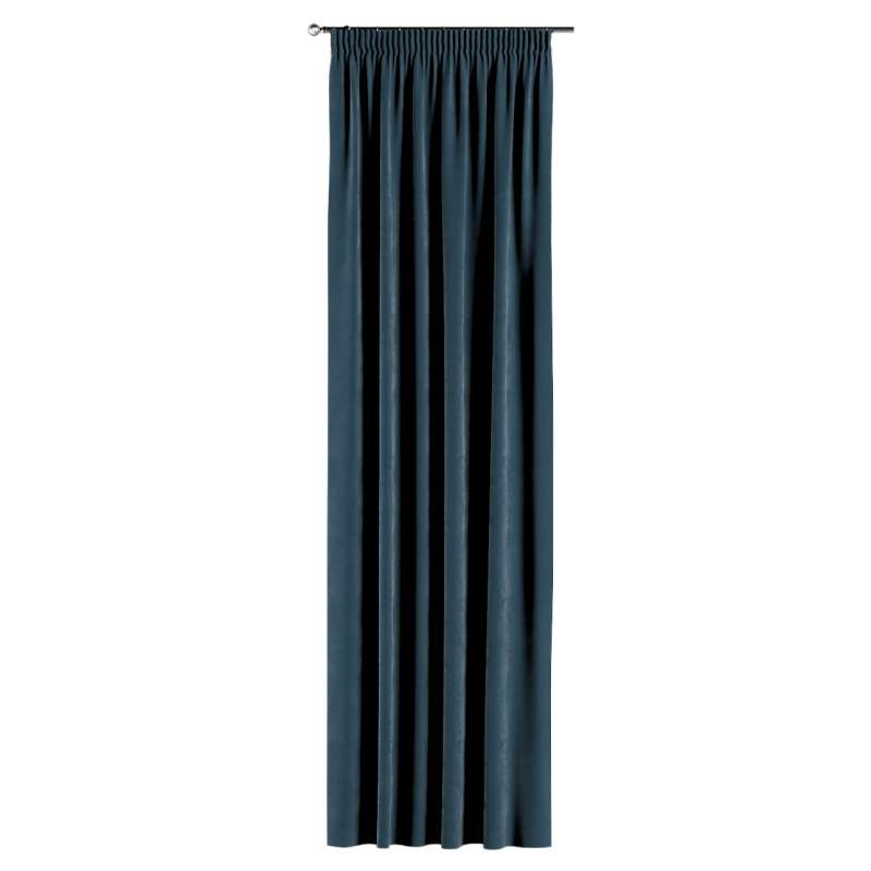 Gardin med rynkband 1 längd i kollektionen Velvet, Tyg: 704-16