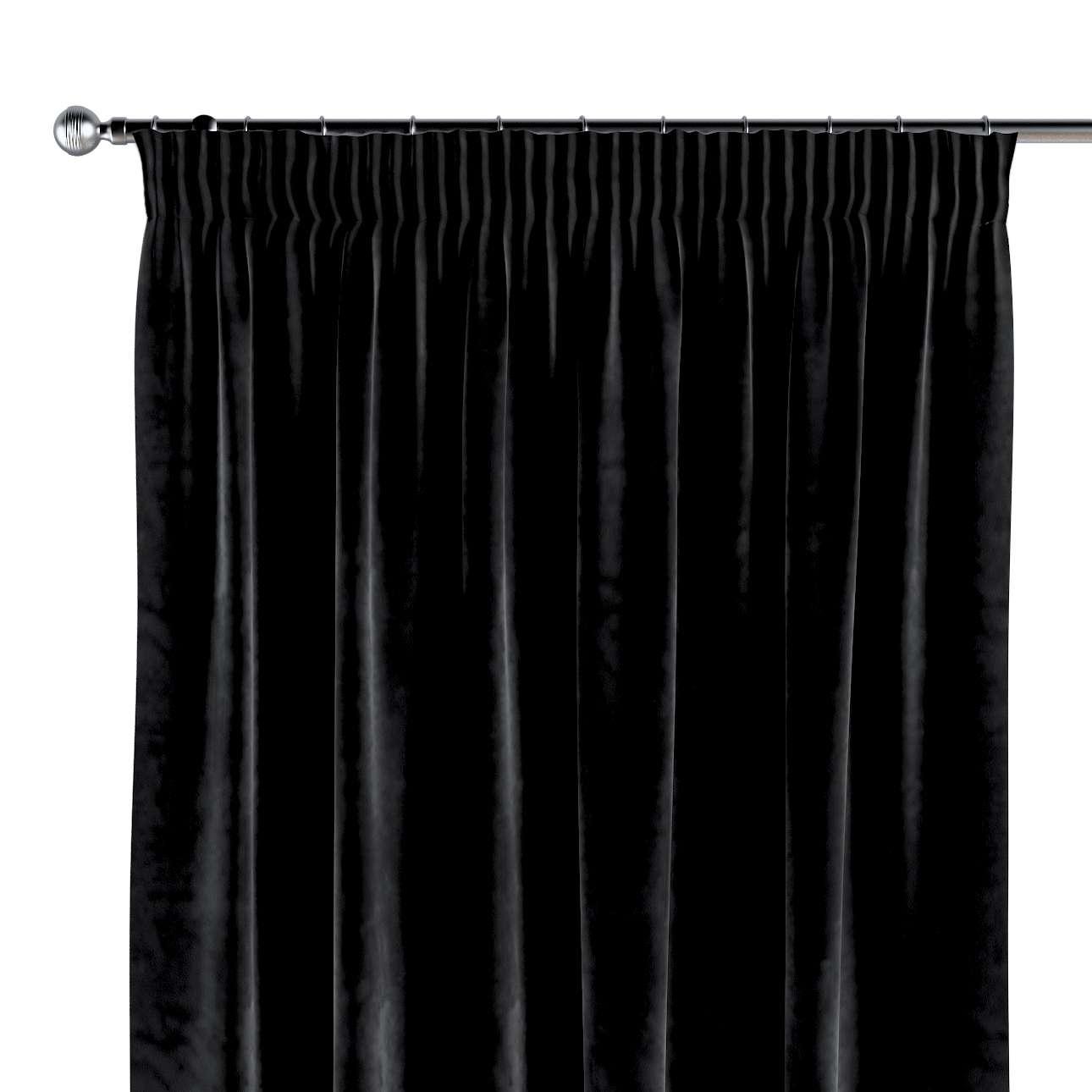 Zasłona na taśmie marszczącej 1 szt. 1szt 130x260 cm w kolekcji Velvet, tkanina: 704-17