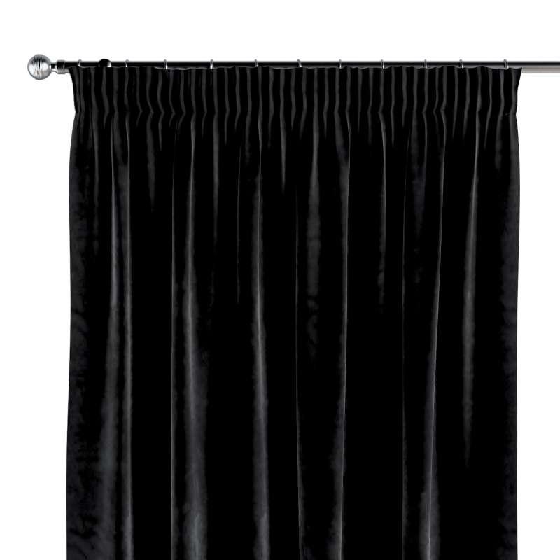 Gordijn met plooiband van de collectie Velvet, Stof: 704-17