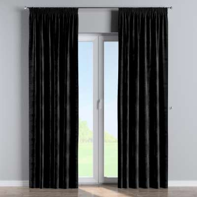 Pencil pleat curtains in collection Velvet, fabric: 704-17
