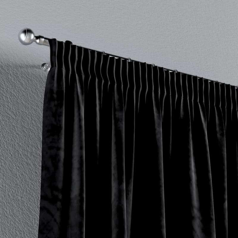 Gardin med rynkband 1 längd i kollektionen Velvet, Tyg: 704-17
