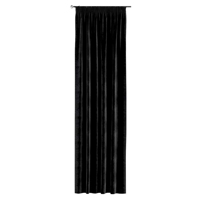 Pencil pleat curtain in collection Velvet, fabric: 704-17
