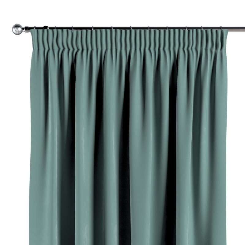 Pencil pleat curtain in collection Velvet, fabric: 704-18