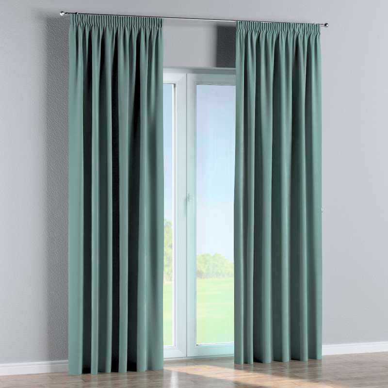 Pencil pleat curtains in collection Velvet, fabric: 704-18