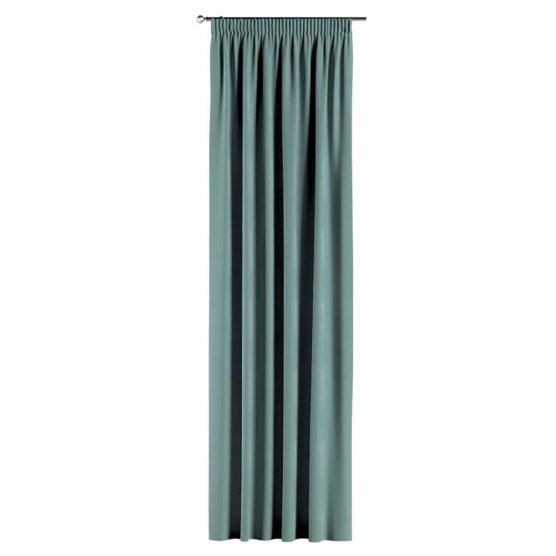 Gardin med rynkband 1 längd i kollektionen Velvet, Tyg: 704-18
