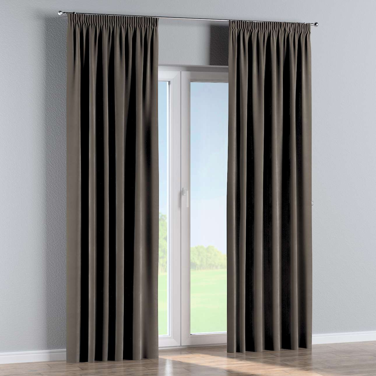 Pencil pleat curtains in collection Velvet, fabric: 704-19