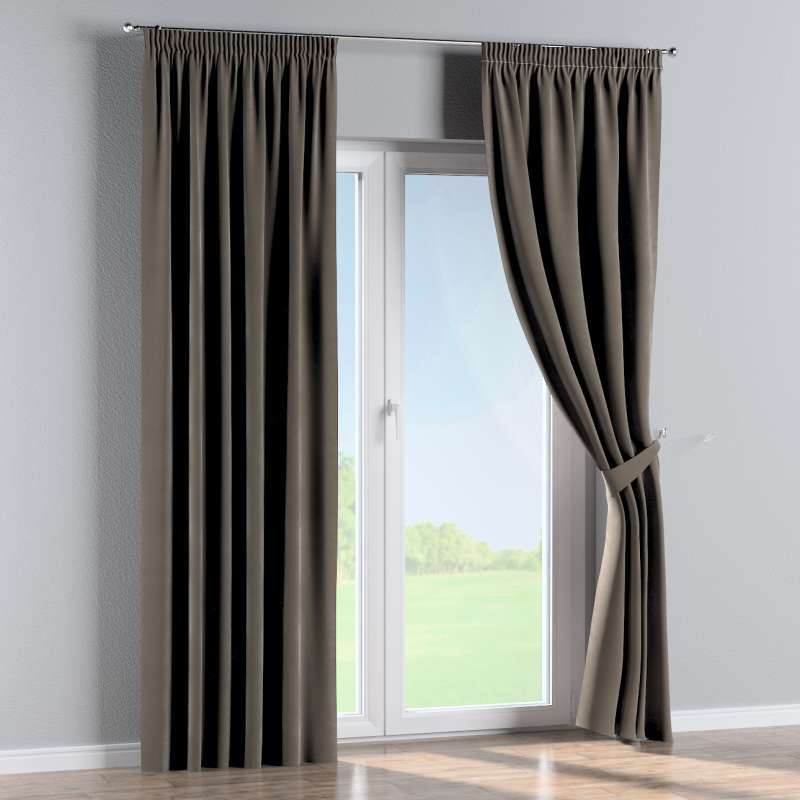 Pencil pleat curtain in collection Velvet, fabric: 704-19