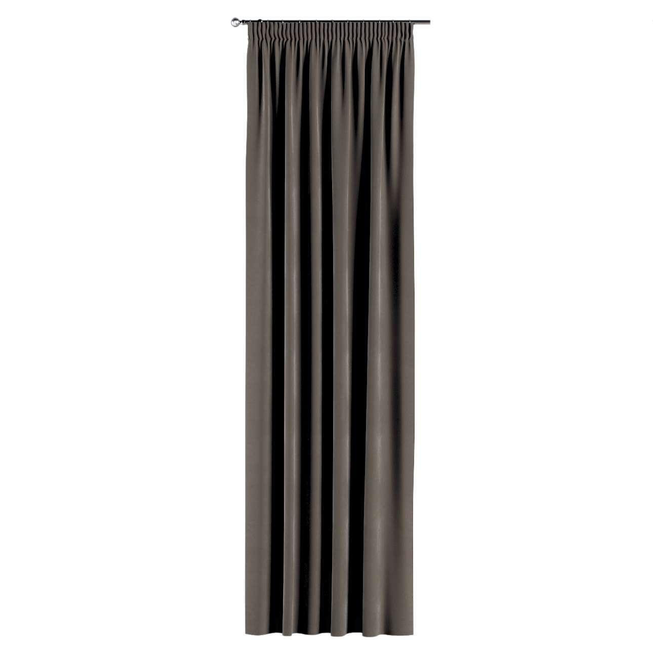 Závěs s řasící páskou 130 x 260 cm v kolekci Velvet, látka: 704-19