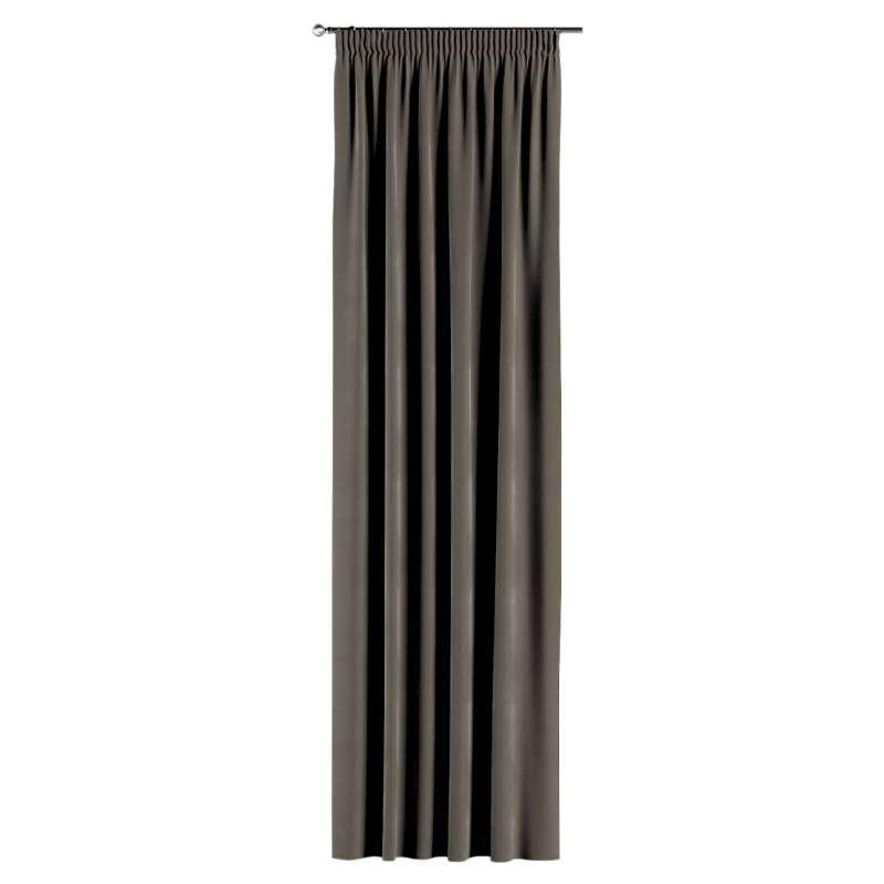 Gardin med rynkband 1 längd i kollektionen Velvet, Tyg: 704-19