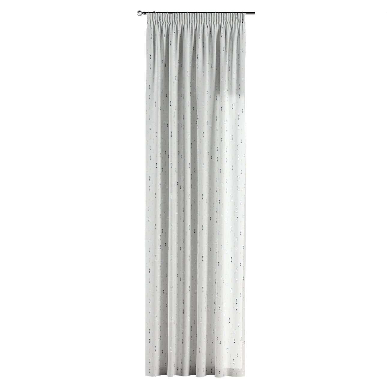Gardin med rynkebånd 1 stk. 130 × 260 cm fra kolleksjonen Adventure, Stoffets bredde: 141-82