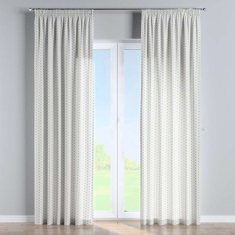 Pencil pleat curtain in collection Adventure, fabric: 141-83