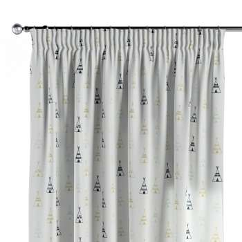Pencil pleat curtains in collection Adventure, fabric: 141-84